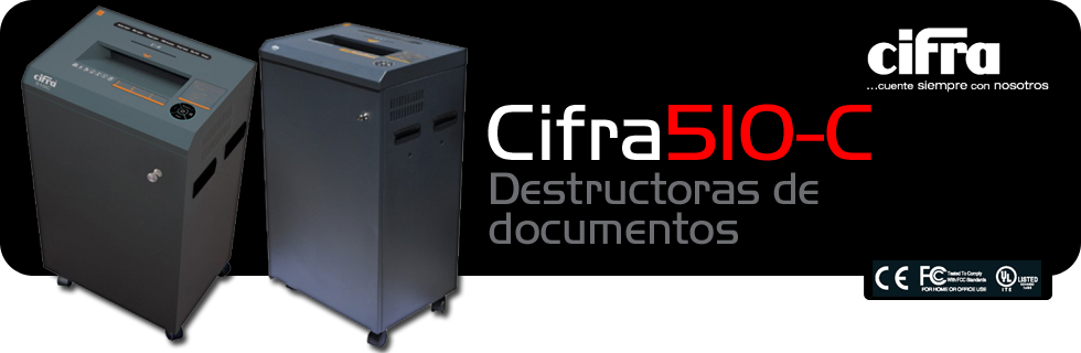 Destructoras de documentos Cifra 510C